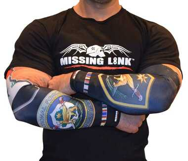 Missing Link SPF 50 ArmPro Compression Sleeves Iraqi Freedom - APIF - Wisconsin Harley-Davidson