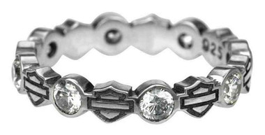 Harley-Davidson Women's Ring, Stacking Bar & Shield Rhinestone Ring HDR0170 - Wisconsin Harley-Davidson
