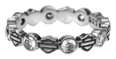 Harley-Davidson Women's Ring, Stacking Bar & Shield Rhinestone Ring HDR0170 - Wisconsin Harley-Davidson