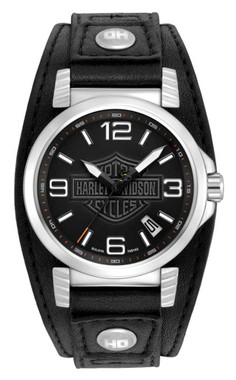 Harley-Davidson Men's Bulova Ghost Bar & Shield Wrist Watch. 76B163 - Wisconsin Harley-Davidson