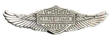 Harley-Davidson Men's Bar & Shield Wings Pin, Zinc Alloy Finish, Silver P339066 - Wisconsin Harley-Davidson