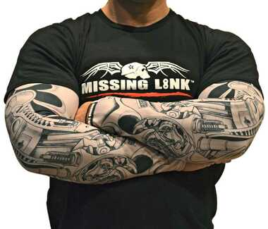 Missing Link SPF 50 BioMechanical Me ArmPro Compression Sleeves APBM - Wisconsin Harley-Davidson