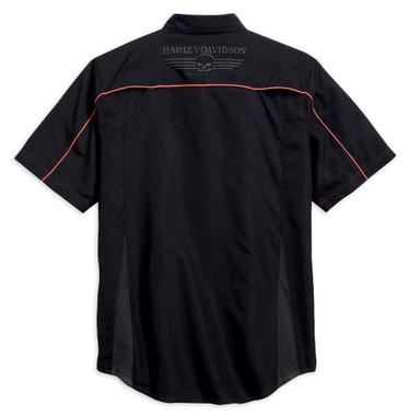 Harley-Davidson Men's Shirt, Vented Performance Willie G Skull, Black 99034-15VM - Wisconsin Harley-Davidson