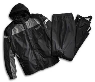 Harley-Davidson Mens Rain Suit, Full Speed Winged B&S Reflective Suit 98336-15VM - Wisconsin Harley-Davidson