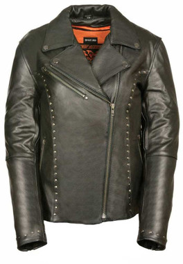 Milwaukee Leather Women's Classic M/C Jacket  w/ Rivet Detailing ML1948 - Wisconsin Harley-Davidson