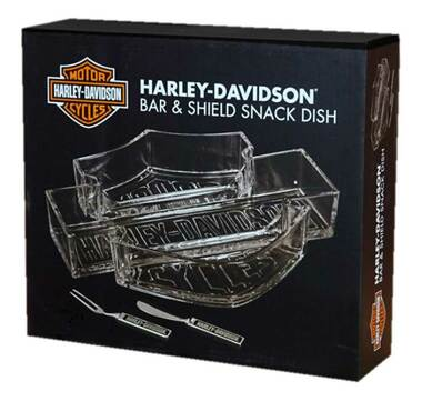 Harley-Davidson Bar & Shield Snack Dish Set HDL-18533 - Wisconsin Harley-Davidson