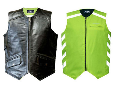 Missing Link Mens Hi-Vis DOC Reversible Safety Vest - Green DOCMG - Wisconsin Harley-Davidson