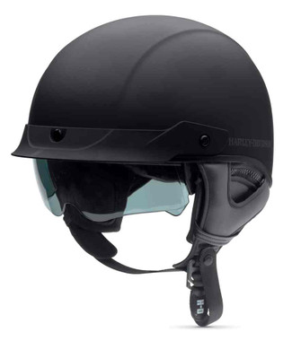 Harley-Davidson Men's Lucid Ultra-Light Sun Shield J03 Half Helmet. 98390-16VM - Wisconsin Harley-Davidson