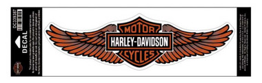 Harley-Davidson Straight Wing Decal Orange 3XL Size Sticker DC339387 - Wisconsin Harley-Davidson