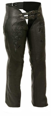 Milwaukee Leather Women's Chaps w/ Reflective Tribal Design ML1187 - Wisconsin Harley-Davidson