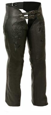 Milwaukee Leather Women's Chaps w/ Reflective Tribal Design ML1187 - Wisconsin Harley-Davidson