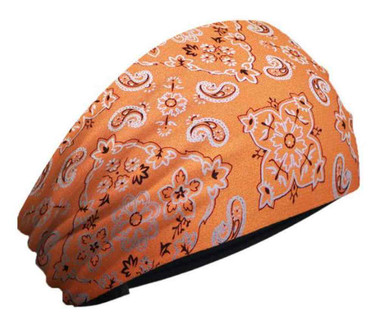 That's A Wrap Women's Knotty Band, All-Over Paisley Foil Bandana, Orange KB1637 - Wisconsin Harley-Davidson