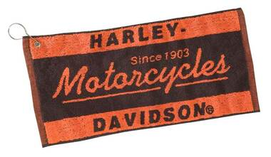 Harley-Davidson Motorcycle Bar Towel HDL-18502 - Wisconsin Harley-Davidson
