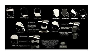 Harley-Davidson All Over Bar & Shield Multifunctional Headwear Wrap. MHW40030 - Wisconsin Harley-Davidson