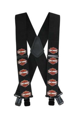 Harley-Davidson Men's Suspenders, Bar & Shield, Extra Long 54 Inch SUS302306 - Wisconsin Harley-Davidson