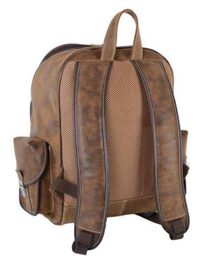 Harley-Davidson Bar & Shield Genuine Leather Large Backpack, Brown 99678 - Wisconsin Harley-Davidson