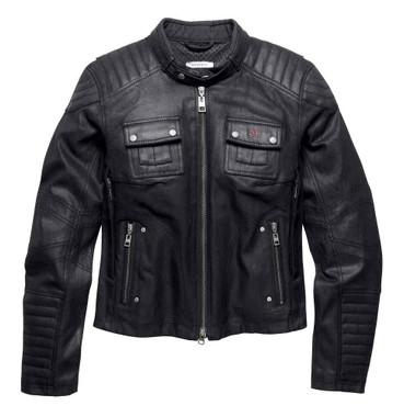 Harley-Davidson Womens Black Label Quilted Coated Denim Riding Jacket 98115-16VW - Wisconsin Harley-Davidson