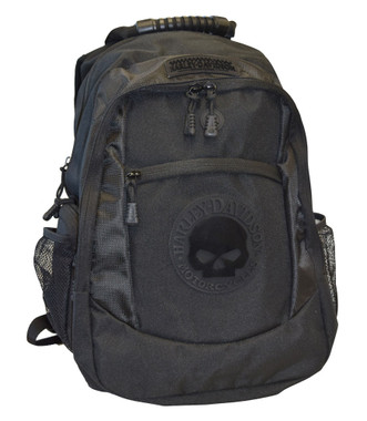 Harley-Davidson Men's Willie G. Skull Classic Backpack - Black BP1962S-Black - Wisconsin Harley-Davidson