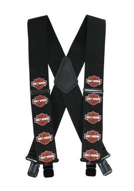 Harley-Davidson Bar & Shield Suspenders, 48 Inch SUS302305 - Wisconsin Harley-Davidson