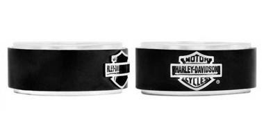 Harley-Davidson Men's Bar & Shield Black Steel Band Ring HSR0001 - Wisconsin Harley-Davidson