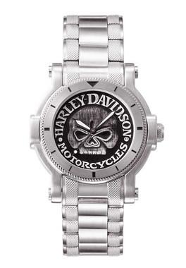 Harley-Davidson Men's Bulova Willie G Skull Wrist Watch 76A11 - Wisconsin Harley-Davidson