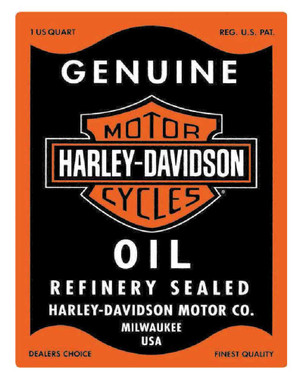 Harley-Davidson Genuine Motor Oil Can Rectangle Tin Sign 17 x 13 Inches 2010631 - Wisconsin Harley-Davidson