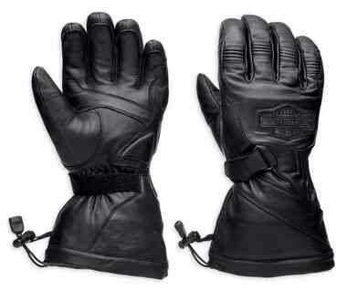 Harley-Davidson Men's Circuit Waterproof Gauntlet Leather Gloves 98276-14VM - Wisconsin Harley-Davidson
