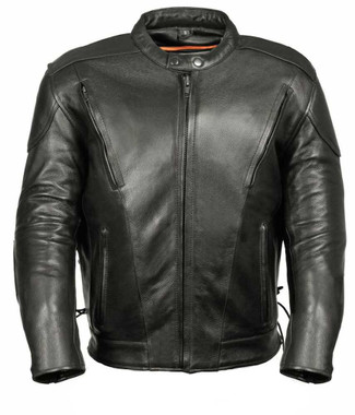 Milwaukee Leather Men's Side Lace Vented Scooter Jacket ML1010 - Wisconsin Harley-Davidson
