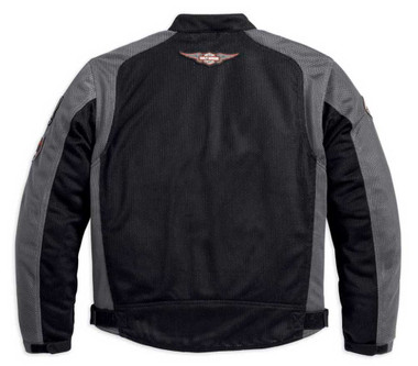 Harley-Davidson Men's Bar & Shield Logo Mesh Jacket Black 98233-13VM - Wisconsin Harley-Davidson
