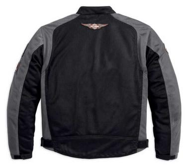 Harley-Davidson Men's Bar & Shield Logo Mesh Jacket Black 98233-13VM - Wisconsin Harley-Davidson