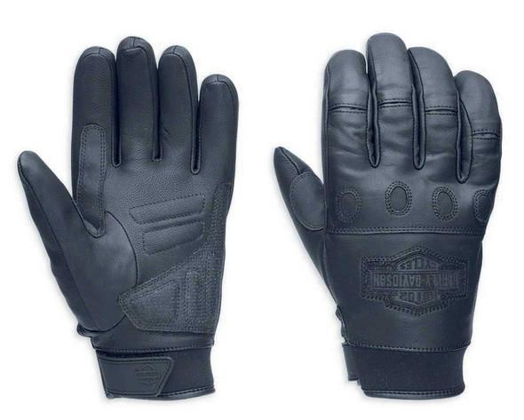 Harley-Davidson Men's Circuit Full-Finger Leather Gloves 98275-14VM - Wisconsin Harley-Davidson