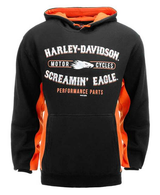 Harley-Davidson Men's Screamin' Eagle Cycle Contrast Pullover Hoodie HARLMS0067 - Wisconsin Harley-Davidson