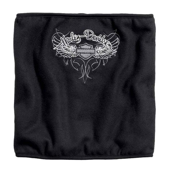 Harley-Davidson Women's Wing Wind-Resistant Fleece Neck Tube, Black 99554-16VW - Wisconsin Harley-Davidson