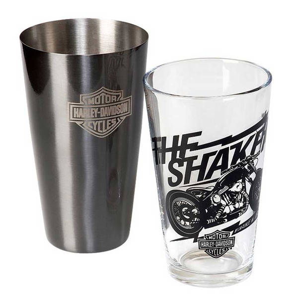 Harley-Davidson Bar & Shield Boston Drink Shaker Set, Stainless Steel HDL-18554 - Wisconsin Harley-Davidson