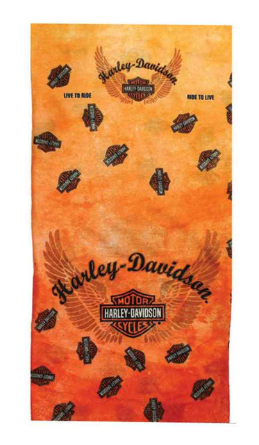 Harley-Davidson Bar & Shield Multifunctional CoolMax Headwear Orange MHW129838 - Wisconsin Harley-Davidson