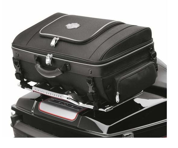 Harley-Davidson Bar & Shield Zippered Tour-Pak Rack Bag Black Nylon 93300006 - Wisconsin Harley-Davidson