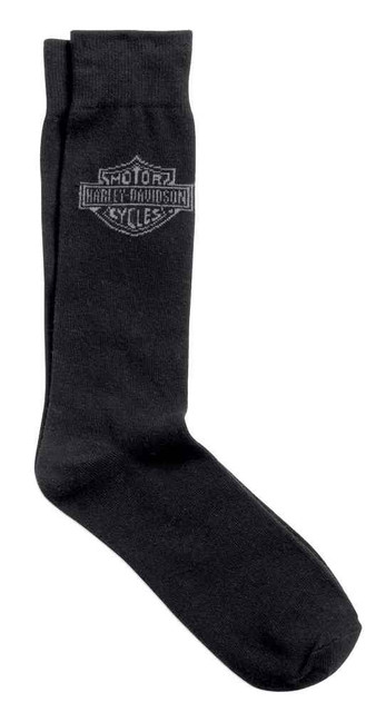 Harley-Davidson Men's Bar & Shield Trouser Sock, Poly Blend Black. 99400-16VM - Wisconsin Harley-Davidson