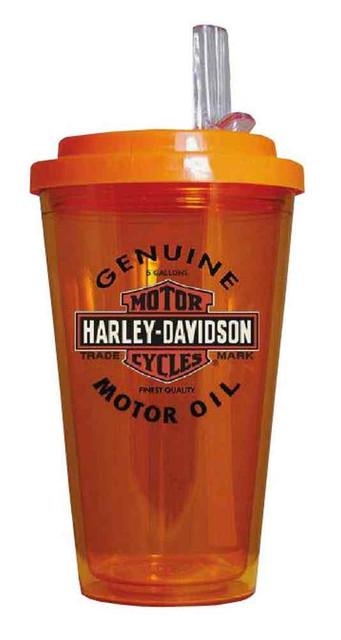 Harley-Davidson Genuine Motor Oil Bar & Shield On-The-Go Tumbler HD-GMO-1745 - Wisconsin Harley-Davidson