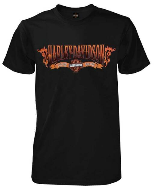 Harley-Davidson Men's T-Shirt, Captain H-D Script Short Sleeve, Black 30293331 - Wisconsin Harley-Davidson