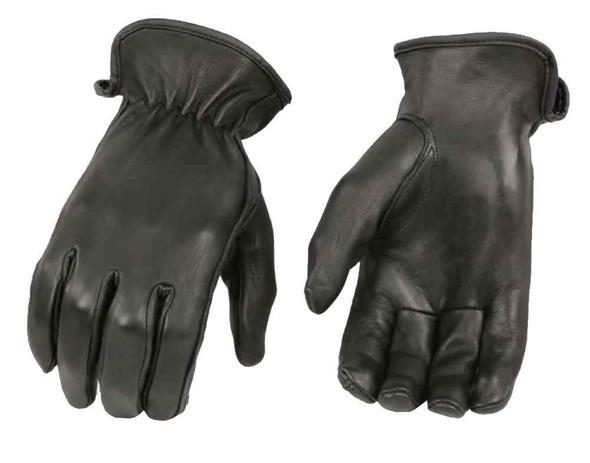 Milwaukee Leather Women's Deerskin Leather Thermal Driving Gloves, Black SH886 - Wisconsin Harley-Davidson