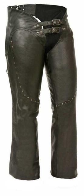 Milwaukee Leather Women's Low Rise Double Buckle Chaps, Rivet Detai ML1186 - Wisconsin Harley-Davidson
