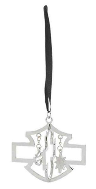 Harley-Davidson Bar & Shield Logo Christmas Ornament, Silver/Black. 96839-16V - Wisconsin Harley-Davidson