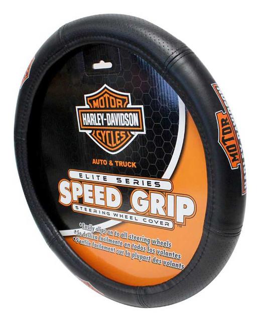 Harley-Davidson Steering Wheel Cover, Vintage Elite Bar & Shield Speed Grip 6644 - Wisconsin Harley-Davidson