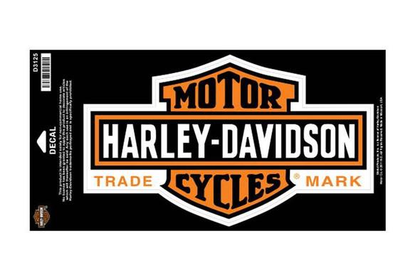 Harley-Davidson Long Bar & Shield Large Size Decal D3125 - Wisconsin Harley-Davidson