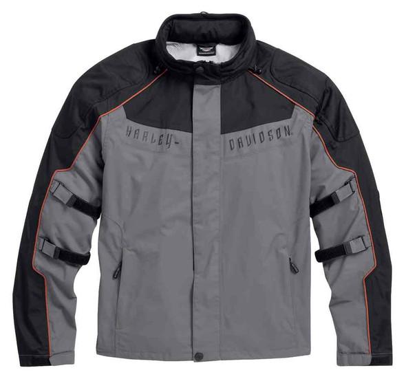 Harley-Davidson Men's Chimera 3-in-1 Waterproof Jacket, Black/Gray 97108-16VM - Wisconsin Harley-Davidson