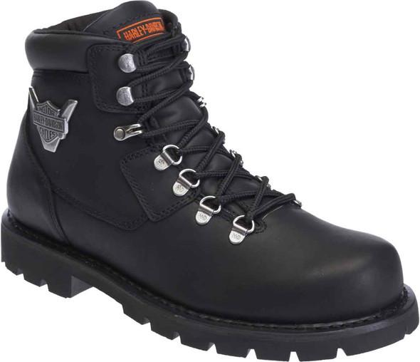 Harley-Davidson Men's Glenmont Black Leather Motorcycle Boots. D93306 - Wisconsin Harley-Davidson
