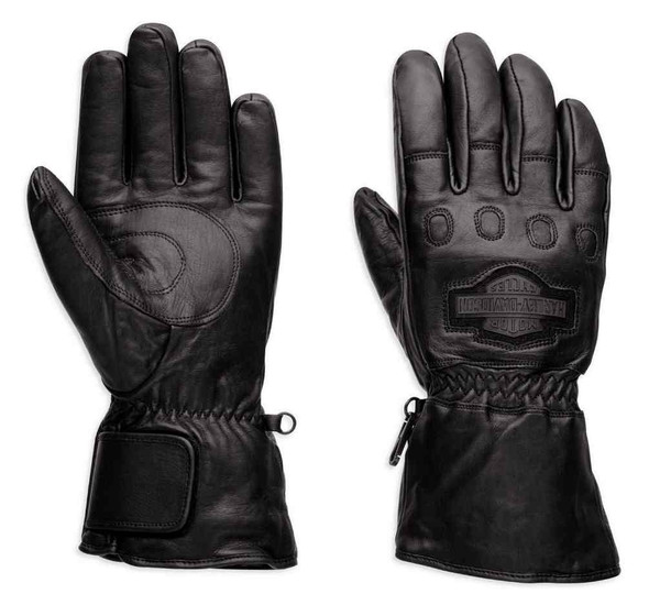 Harley-Davidson Men's Windshielder Gauntlet Leather Gloves 98158-95VM - Wisconsin Harley-Davidson