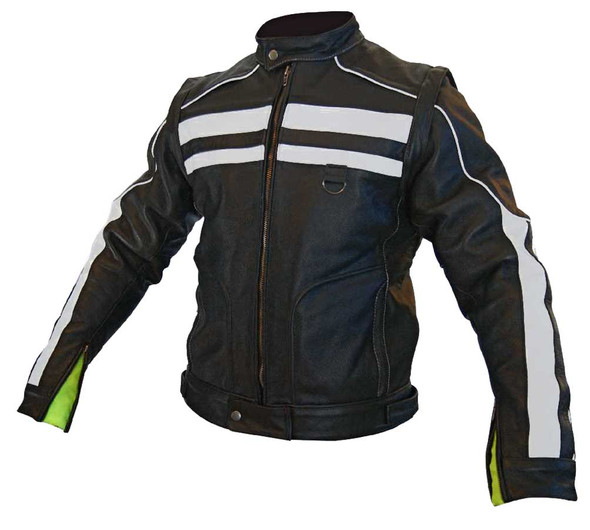Missing Link Men's Rival Leather Motorcycle Jacket, Converts to Vest RIVJAC - Wisconsin Harley-Davidson
