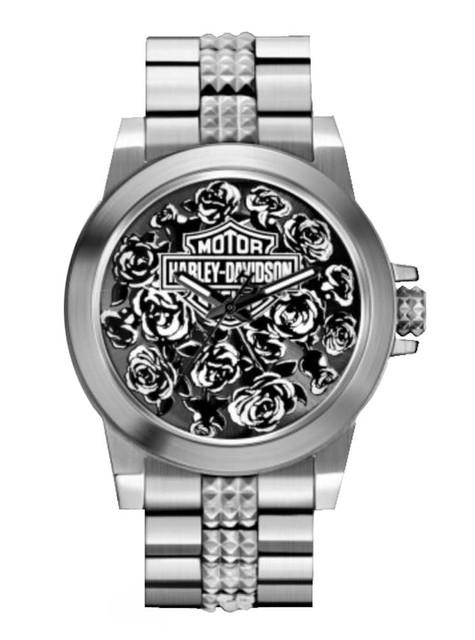 Harley-Davidson  Women's Bulova Rose Faced Wrist Watch 78L115 - Wisconsin Harley-Davidson