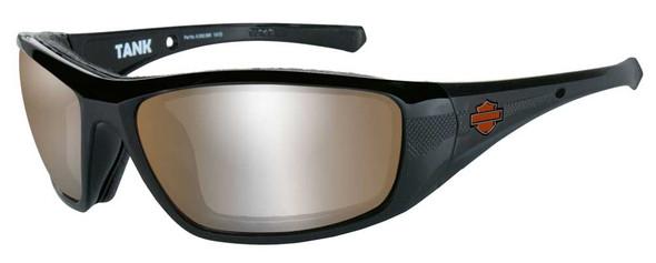 Harley-Davidson Men's Tank Sunglasses, Copper Silver Flash/Black Frame HDTAN09 - Wisconsin Harley-Davidson